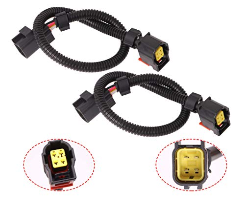 2Pcs 15' O2 Sensor Wire Extension Harnesses Compatible with Je-ep Do-dge Ram 1500 Viper Charger Challenger