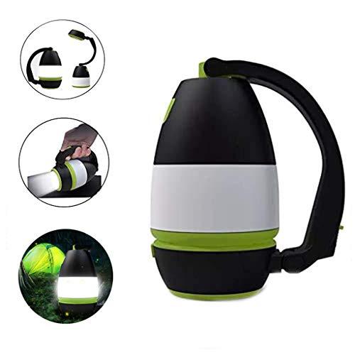 Lampe De Poche Lanterne De Camping Torche Rechargeable LED Puissante Portable en Plein Air Multifonction Camping Randonnée Pêche,Black Green