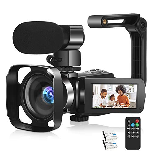 2.7K Video Camera for YouTube Vlogging Digital Camera Camcorder with Microphone 30MP 3.0 Inch KOMERY Camera 1080P 30FPS FHD 270 Degree Rotation Screen 16X Digital Zoom Webcam Video Recorder