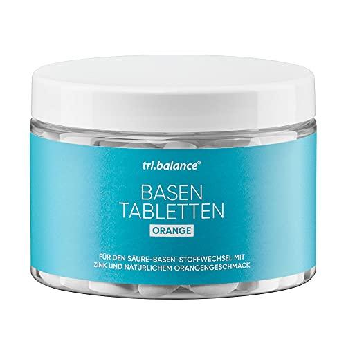 tri.balance Basentabletten Orange 225 Tabletten - 1er Pack I Pro I - Mit Zink zur Entsäuerung I Für den Säure-Basen-Stoffwechsel I vegan