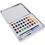 KUIDAMOS 36 Aquarellfarbe, kleine Wasserfarbe, Malutensilien zum Schreiben, Zeichnen und Skizzieren...