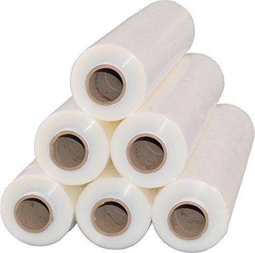 6 Rollen Beste-Folie Stretchfolie 23my 500mm - 2,5kg Palettenfolie Handfolie Wickelfolie (transparent)