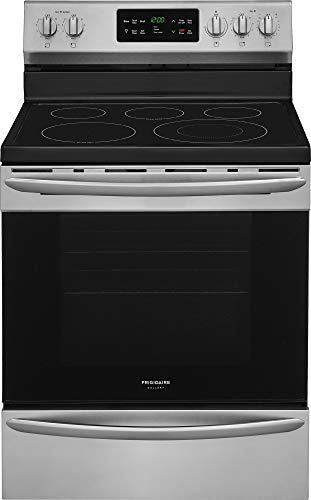 """Frigidaire FGEF3036TF 30"""" Gallery Series Electric Range with 5.4 Cubic. ft. Capacity, Steam Clean, Fan Convection, in Stainless Steel"""