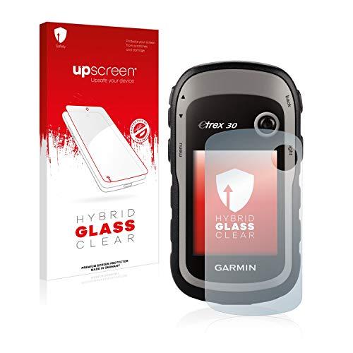 upscreen Protector Pantalla Cristal Templado Compatible con Garmin eTrex 30 Hybrid Glass - 9H Dureza
