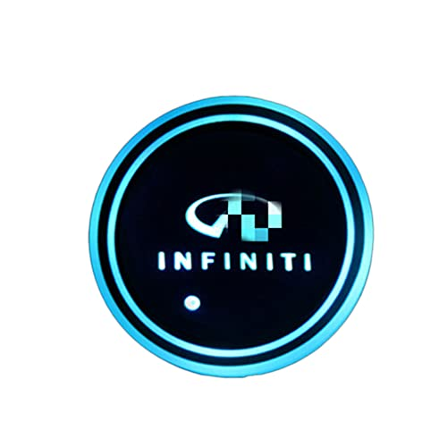 for Infiniti Car Led Cup Holder Lights Led Car Coasters 7 Colors Luminescent Cup Mat for Drink Coaster Accessories Interior Decoration Atmosphere Light