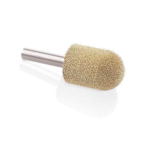 Kutzall Original Ball Nose Rotary Burr, 1?4 Shaft, Fine - Woodworking Attachment for Bosch, DeWalt, Milwaukee, Makita. Abrasive Tungsten Carbide, 3?4 (19mm) Dia. X 1-1?8 (28.5mm) Length, BN-34G