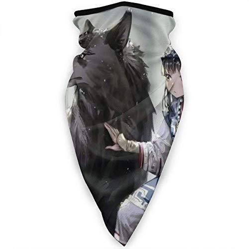 July Wolf en man Hals Gamas sjaal zon UV-bescherming gezichtsmasker winddicht ademende bandana Balaclavas-D9A-YUN