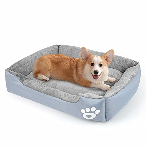 Dog Bed for Medium Dogs, Warming Washable Rectangle Pet Bed, Large Dog Bed with Waterproof Bottom for Large Dogs(28/31/37 inch)