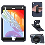 ZenRich iPad Mini 5 Case 2019 iPad Mini 4 Case 2015 zenrich Shockproof Rugged Case with Screeen Protector Pencil Holder Kickstand Hand Strap for iPad 7.9 inches (Navy Blue)