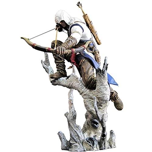 XYZLEO Anime Assassin's Creed 3 Figure Model Toy Gift, Connor Action Figures PVC Figure Modello da Collezione Giocattoli Regalo per Bambini