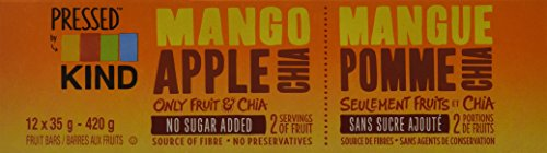 KIND Pressed Mango Apple Chia Bar, 12 Count