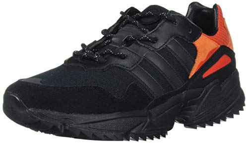 adidas Originals Men's YUNG-96 Trail Hiking Shoe, core Black/Trace Grey met./Flash Orange, 10.5 M US
