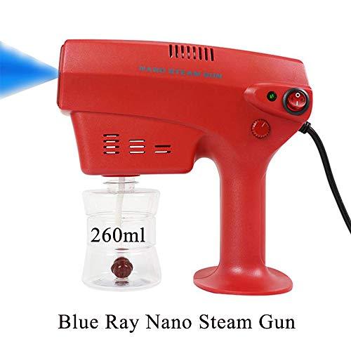 LYY 110 V-240 V 260 ML Desinfección Pistola de Vapor Nano Azul Claro, Pulverizador de Niebla eléctrico portátil ULV con máquina de atomización de Perilla de Flujo Ajustable para vehículo hospitalario