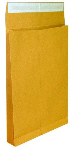 Idena 346044 - Faltentasche C4 mit 4 cm Klotzboden, 100 Stück, 130 Gramm, haftklebend, ohne Fenster, braun