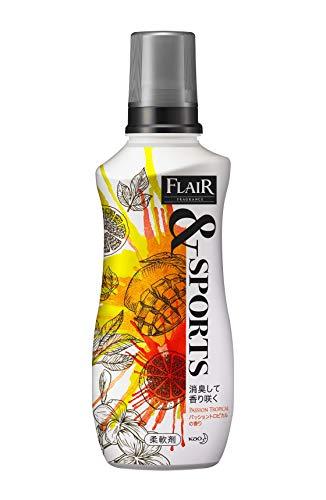 フレアフレグランス &SPORTS(スポーツ) 柔軟剤 消臭して香り咲く パッショントロピカルの香り 本体 540ml
