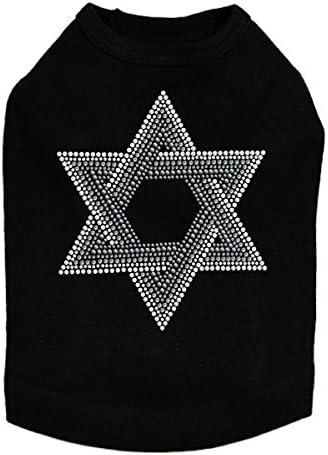 Star of David Gray Bargain and Clear Latest item - S Dog Rhinestone Bling Hanukkah