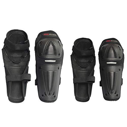 Motorrad Ellenbogenschoner 4-teilig Anzug Reiten Armschutz Set Atmungsaktiv Reflektorstreifen Stoßfest Tropfenfest