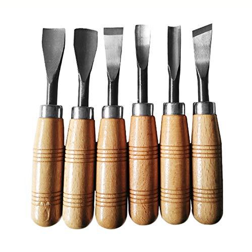 YAYANG Chisel 6pcs de Talla de Madera del cincel Cuchillo Profesional de...