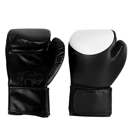1 Paar Paar Boxhandschuhe Adult Unisex Training Boxhandschuhe Übungszubehör für Muay Thai Sparring(Schwarz)