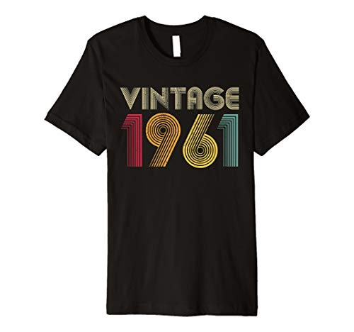 Gift for 60th Birthday 1961 60 Years Old Vintage Retro Born Premium T-Shirt