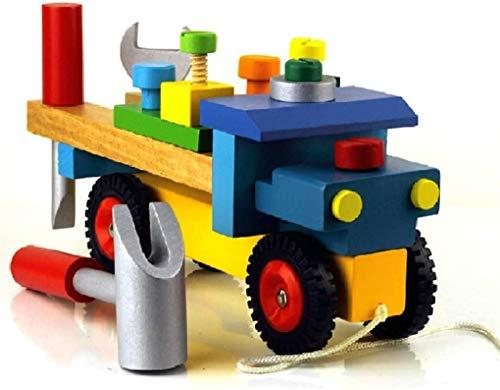 Aoyo Kleurrijke Baby Vroeg Educatief Houten Speelgoed Gereedschap Kinderen Auto demonteren Tafelspellen Leren Schroef Assembly Speelgoed
