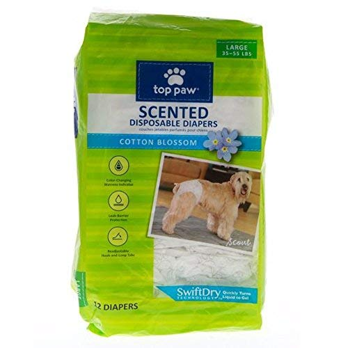 Top Paw Scented Disposable Dog Diapers - Large