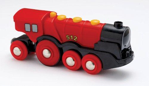 Brio - 33223 - Véhicule à piles - Locomotive rouge - Multifonction