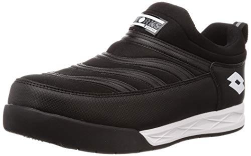 [ロットワークス] LW-S7004 JSAA A種認定 プロテクティブスニーカー 安全靴 作業靴 樹脂製先芯 4cm4時間防水 幅広(EEE) メンズ ブラック 27 cm 3E