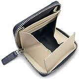 [フロックス] 財布 小銭入れ ファスナー式 ボックス型 本革 メンズ ネイビー