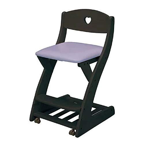 木製チェア 座面PVC 学習机用 WC-16 木製椅子 学習椅子 学習チェア 学習イス キッズ用チェア (ブラック-...