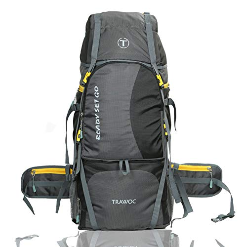 TRAWOC Trekking/Hiking Travel Backpack Bag 60 LTR Rucksack, 1 Year Warranty