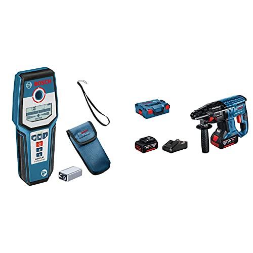 Bosch Professional Martillo perforador combinado a batería GBH 18V-21 + Bosch Professional Detector de pared GMS 120
