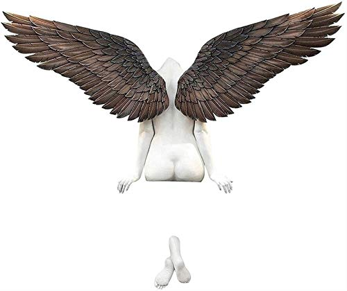 MFFACAI Angel Wings Wall Sculpture Icarus Had a Sister Art Decoration, Vivid 3D Angel Resin Statue Ornament Wall Decor for Living Room Bedroom Home Office Decoration (Size : 50 * 30cm)