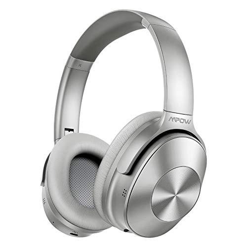 Hybrid Active Noise Cancelling Kopfhörer, Mpow H12 Bluetooth 5.0 Kabellos Faltbar Kopfhörer Over Ear mit Duales Mikrofonsystem, 30 Std HiFi Stereo Sound Geräuschunterdrückende Kopfhörer für TV, PC