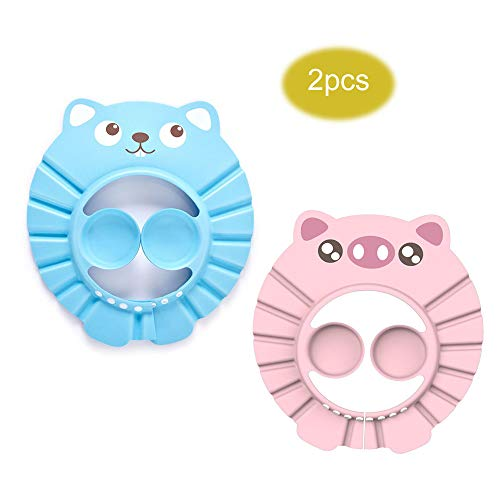 Azul Newin Star suave seguro Baby Kid Ni/ños Shampoo Bath Protector gorro para la ducha hat Wash pelo Shield