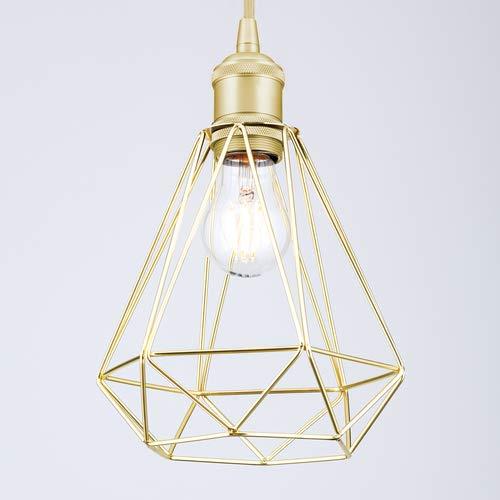 Goldenes Schirmgestell Vintage Käfig Draht Retro Industriell Metall Lampenschirm