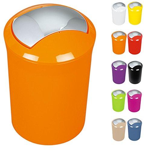 """Spirella Design Kosmetikeimer 10.14382""""Sydney mit Schwingdeckel 5 Liter (ØxH): 19 x 30 cm Orange"""