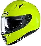 Casco de moto HJC i70 Verde FLUO / FLUO GREEN, Amarillo, S