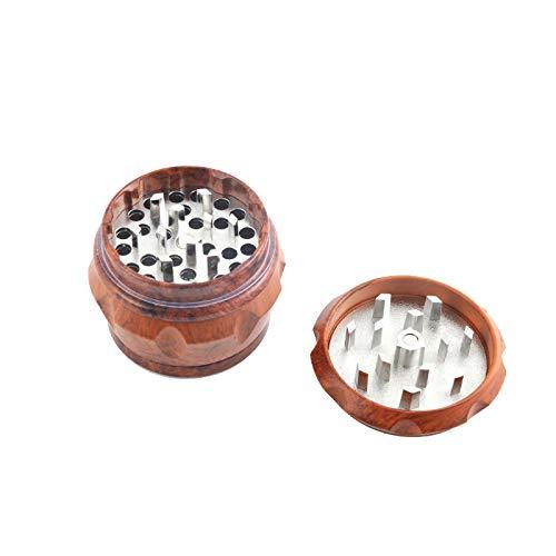 TPLF Distribution Grinder in legno, macina spezie, diametro 50 mm, 4 pezzi con raccogli polline,