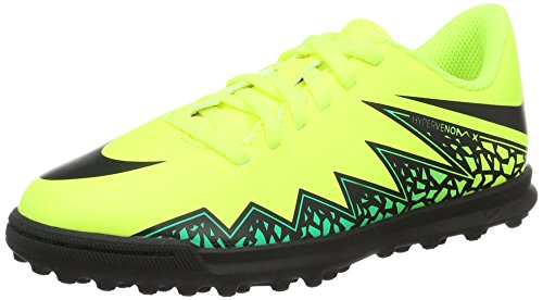 Nike Hypervenom Phade II Tf, Scarpe da Calcio Unisex – Bambini, Giallo (Volt/Black-Hyper Turq-Clear Jade), 37.5 EU