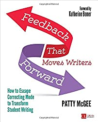 This is a screenshot of the cover of the book Feedback That Moves Writers Forward by Patty McGee.