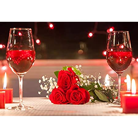 10x6.5ft Romantic Red Rose Polyester Photography Backdrops Glitter Bokeh Haloes Polyester Photography Background Wedding Photo Studio Newlywed Couples Portraits Shoot Valentines Day Greeting Card