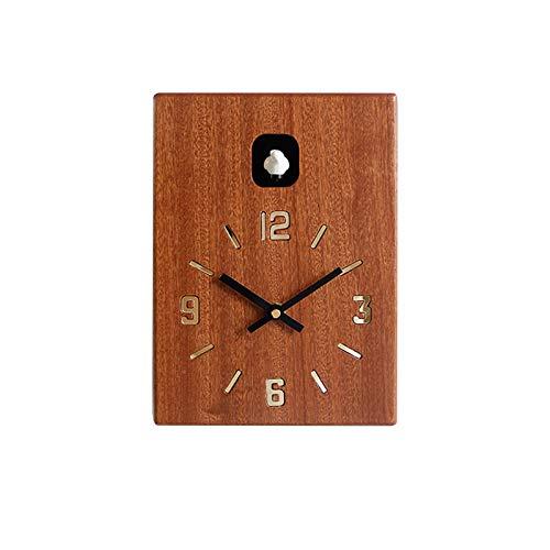 Reloj De Cuco, Reloj De Columpio Creativo De Moda para Sala De Estar, Sala De Estar De Madera Maciza Reloj De Pared Hogar Sala De Estar Cocina Decoración De Oficina,A