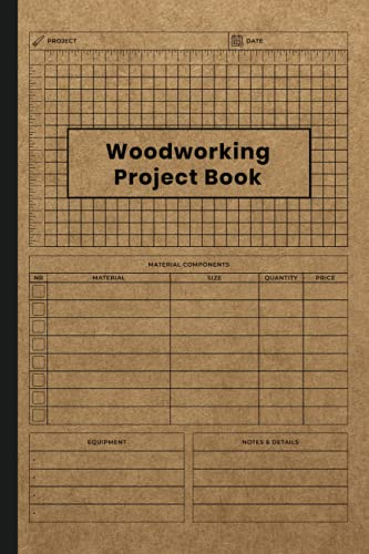 Woodworking Project Book: Project Planner, Diary, Journal, Log Book, Notebook, Chart, Tracker, Record Book For Woodworking Plan or Project, DIY Gift ... Woodworking Lovers, Vintage Brown Cover
