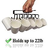 12-Hook Iron Under Cabinet Mug Hanger (Brown)