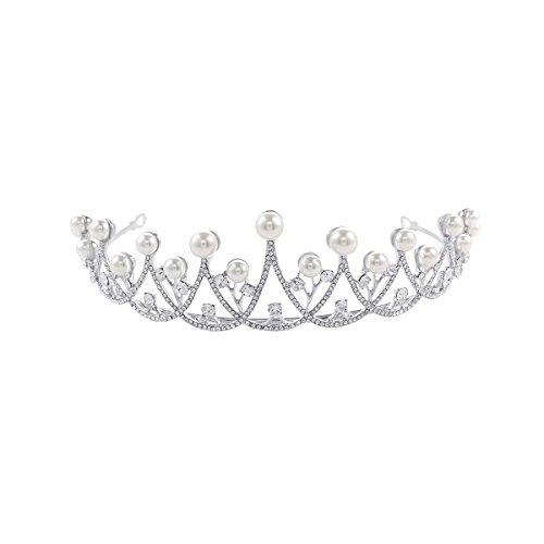 ULTNICE Baile nupcial brillante cristal Strass corona Tiara diadema de novia