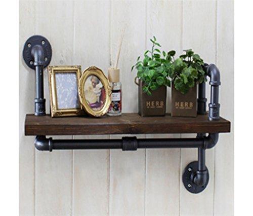 Loft houten retro waterpijp plank badkamer wc muur handdoek rek toilet badkamer handdoek rek