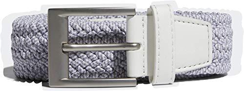 adidas Herren Braided Stretch Belt Gürtel, Weiß (Blanco/Gris Dp7427), (Herstellergröße: L/XL)