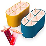 Stampo per i gelato-2 stampi per pallet, 12 stampi per i pallet sono stabili e contro il trabocco con imbuto e pennello, fare gelato fatto in casa, bambino e adulti