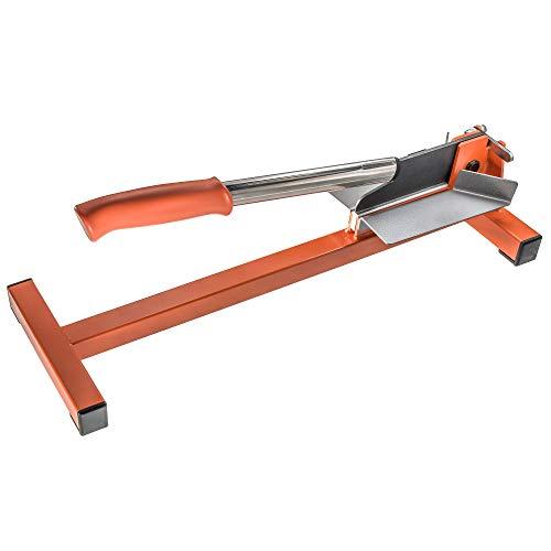 Original LÖWE Profi Hebelschneider 50.130 mit 45° und 90° Anschlägen - scharfes Schneidewerkzeug ideal zum Bodenlegen für Schnitte an Leisten und Profilen aus Holz Kunststoff Gummi PVC